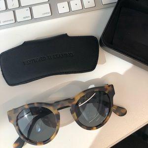 Westward Leaning tortoise round sunglasses